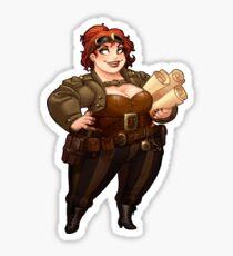 Lady Calpurnia Oxboxer sticker Sticker