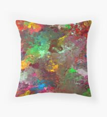 Energetic Abstractions - Colouring In The Clouds Throw Pillow