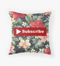 Youtube Subscribe Throw Pillow