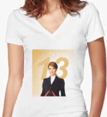 The Thirteenth Doctor Women's Fitted V-Neck T-Shirt