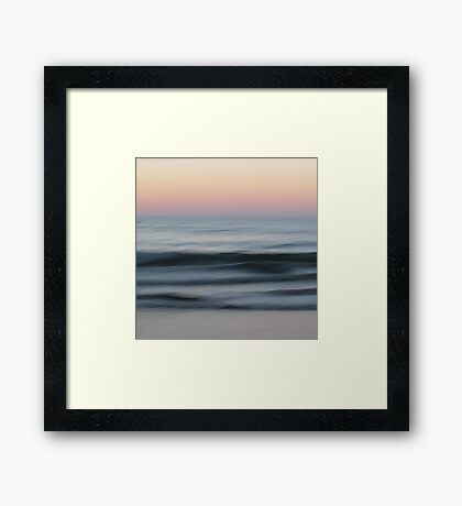 Dialogue With the Sea Framed Print