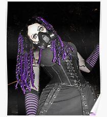 Cybergoth Girl in Purple Poster