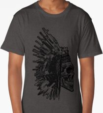Tribal Skull, Guns and Knives Graphic T-shirt Collection Long T-Shirt