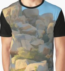 Stealthy Cougar and Whitetail deer Graphic T-Shirt