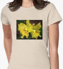 Yellow Orchid , Women's Fitted T-Shirt