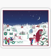 Christmas carolers in the country Sticker