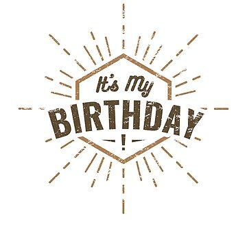 It's My Birthday Hipster Starburst Children's Design by TexasLove