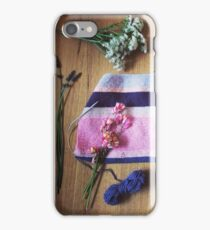 Knitting & Flowers 1 iPhone Case/Skin