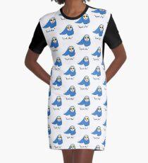 Cue Hijab Flip Graphic T-Shirt Dress