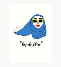 Cue Hijab Flip Art Print