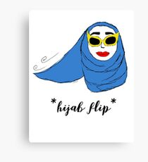 Cue Hijab Flip Canvas Print
