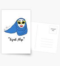 Cue Hijab Flip Postcards