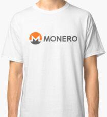 Monero Logo (with Text) (XMR) Classic T-Shirt