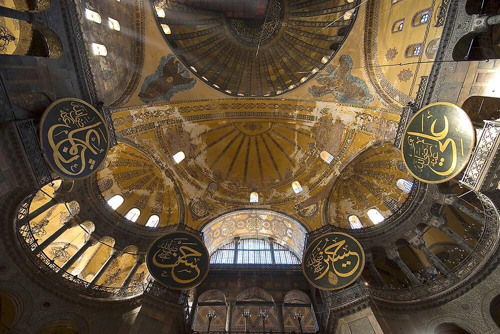 Ceiling of Ayasofya mosque by Akif  Kaynak