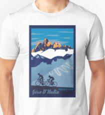 Giro D' Italia Retro  Passo Dello Stelvio Cycling Poster Unisex T-Shirt