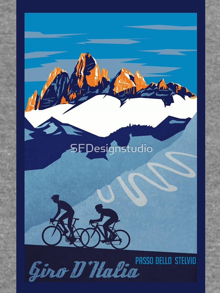 Giro D 'Italia Retro Passo Dello Stelvio Cartel de ciclismo de SFDesignstudio