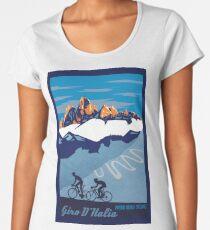 Giro D' Italia Retro  Passo Dello Stelvio Cycling Poster Women's Premium T-Shirt