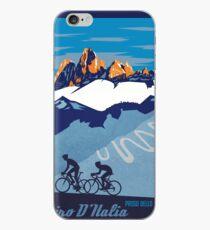 Giro D' Italia Retro  Passo Dello Stelvio Cycling Poster iPhone Case