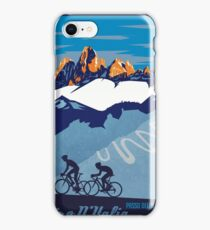 Giro D' Italia Retro  Passo Dello Stelvio Cycling Poster iPhone Case/Skin