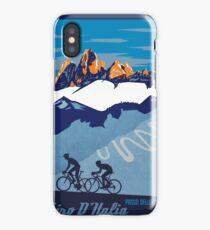 Giro D' Italia Retro  Passo Dello Stelvio Cycling Poster iPhone Case/Skin