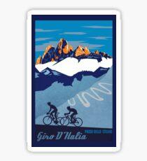 Giro D' Italia Retro  Passo Dello Stelvio Cycling Poster Sticker