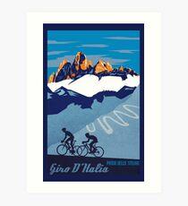 Giro D' Italia Retro  Passo Dello Stelvio Cycling Poster Art Print