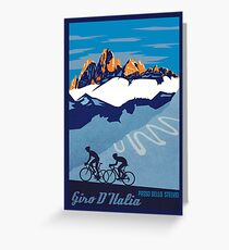 Giro D' Italia Retro  Passo Dello Stelvio Cycling Poster Greeting Card