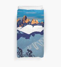 Giro D' Italia Retro  Passo Dello Stelvio Cycling Poster Duvet Cover