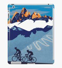 Giro D' Italia Retro  Passo Dello Stelvio Cycling Poster iPad Case/Skin