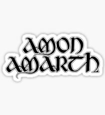 Band Amon Amarth Logo Black Sticker