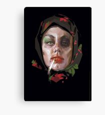 Russian Myth Russian Woman Self-portrait about fashion Canvas Print