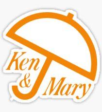 ken & mary Sticker