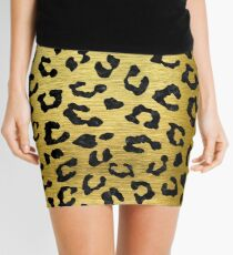SKIN5 BLACK MARBLE AND GOLD BRUSHED METAL Mini Skirt
