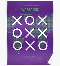 No418- WarGames minimal movie poster Poster