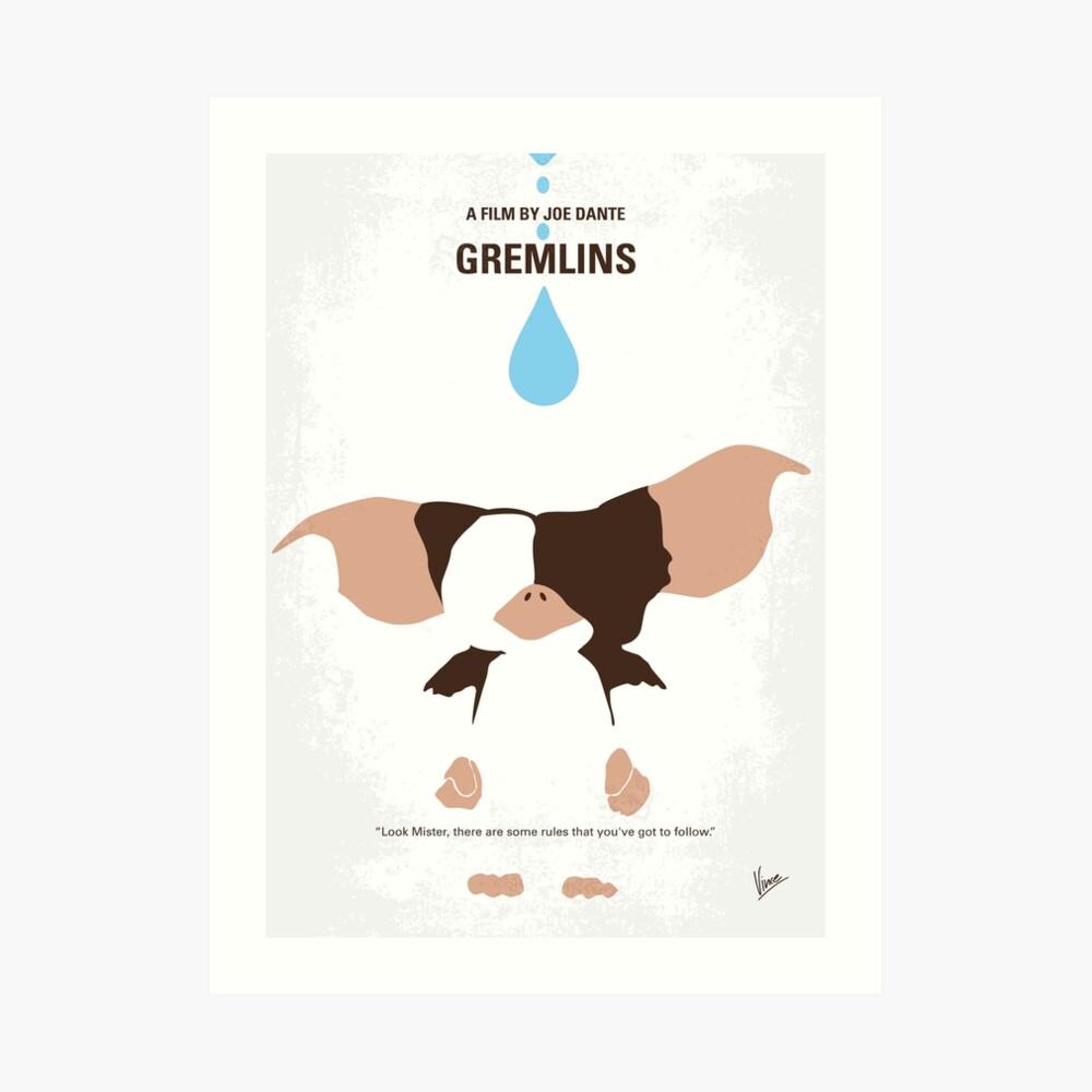 No451 - Gremlins minimales Filmplakat Kunstdruck