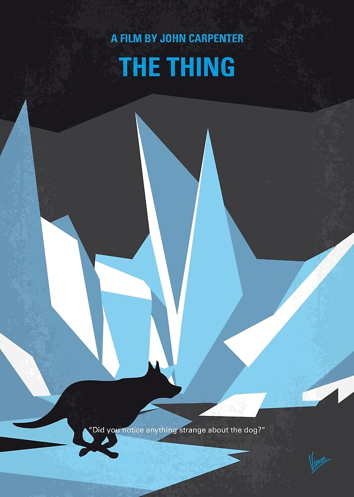 No466- The Thing minimal movie poster by ArtBoyVince