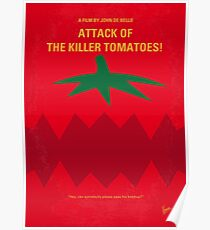 No499- Attack of the Killer Tomatoes minimal movie poster Poster