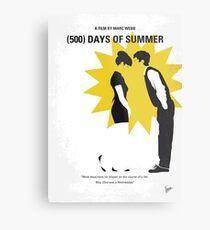 No500- 500 Tage des Sommers minimal Filmplakat Metallbild