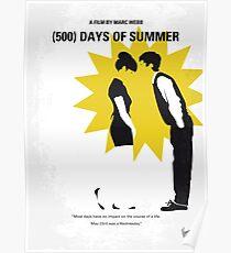 No500- 500 Tage des Sommers minimal Filmplakat Poster