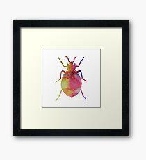 Watercolor animals - Bedbug Framed Print