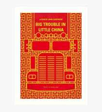 No515- Big Trouble in Little China minimal movie poster Art Print