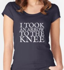 I Took an Arrow to the Knee Women's Fitted Scoop T-Shirt