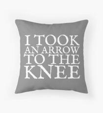 I Took an Arrow to the Knee Throw Pillow