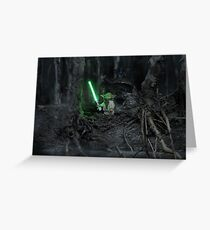While In Exile: Dagobah Greeting Card