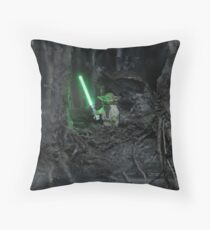 While In Exile: Dagobah Throw Pillow