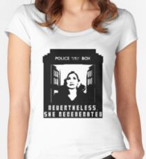 Nevertheless, She Regenerated Women's Fitted Scoop T-Shirt