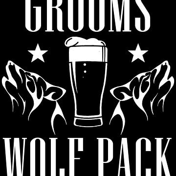 Grooms Wolf Pack Shirt by WarmfeelApparel