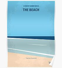 No569- The Beach minimal movie poster Poster