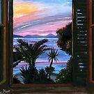 Window View Painting by DinoPanda