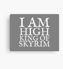 High King of Skyrim Canvas Print